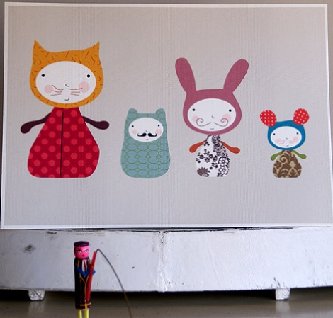 cuadros habitacion infantil animales
