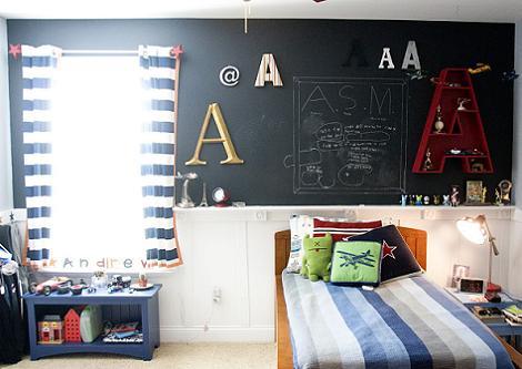Pintura de pizarra para la habitaci n infantil - Pared pizarra ninos ...
