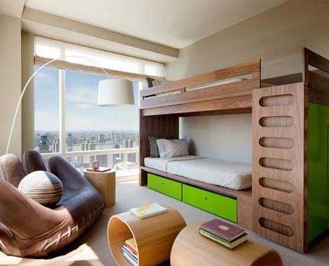 habitaciones literas madera