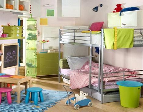Habitaciones con literas for Literas infantiles ikea