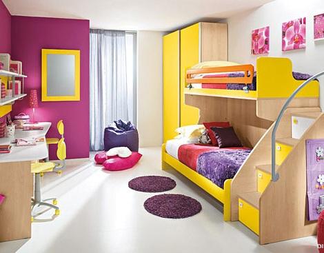 habitaciones literas tren amarillas
