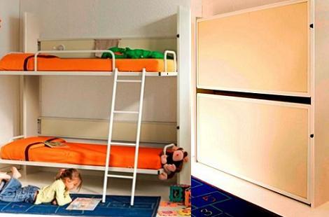 literas habitaciones infantiles abatibles