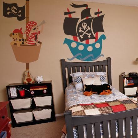murales infantiles piratas