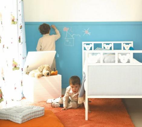Pintura de pizarra para la habitaci n infantil - Pinturas habitacion infantil ...