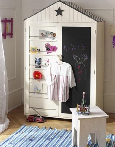 armario infantil pizarra