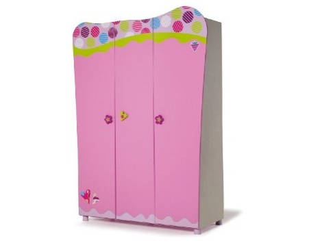 armario infantil rosa
