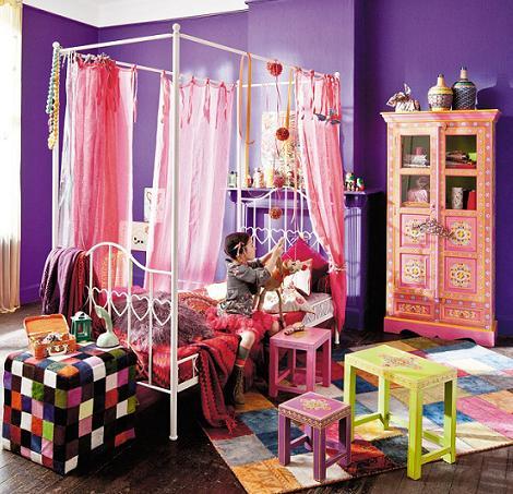 cama con dosel habitacion niña