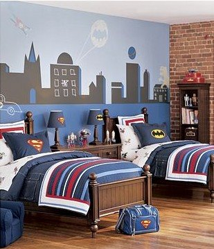 decorar habitacion nino batman