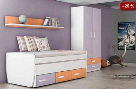 Muebles juveniles baratos for Muebles dormitorio baratos