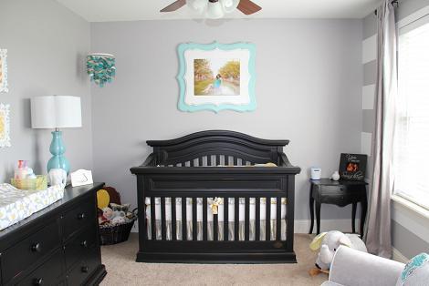 Habitaci n del beb en gris - Habitacion bebe moderna ...