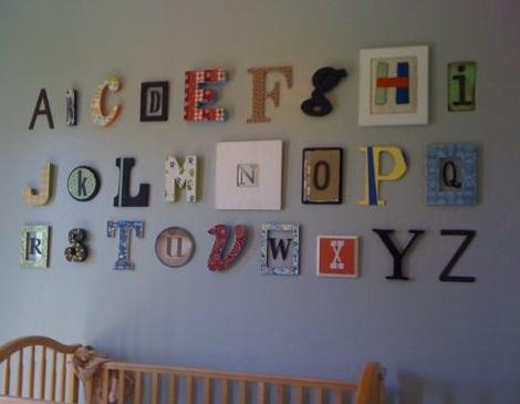 Cuadros para la habitaci n del beb - Letras habitacion bebe ...