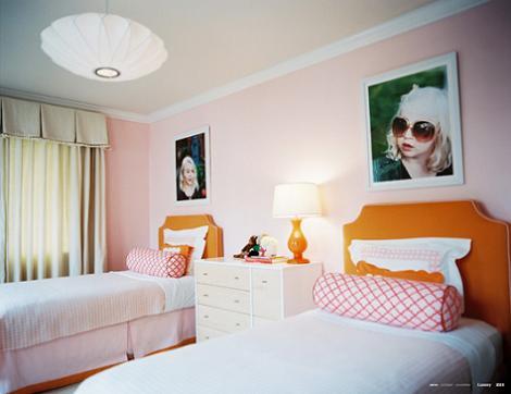 Habitación de chicas rosa
