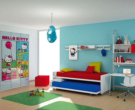 habitacion hello kitty colores