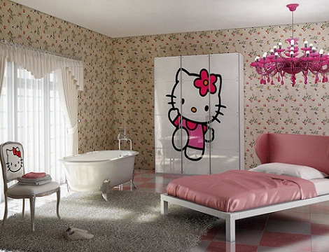 habitacion hello kitty romantica