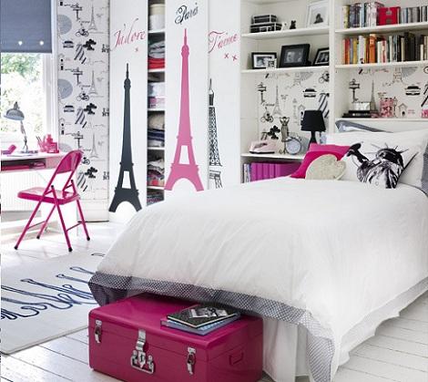Habitaciones juveniles para chica for Vinilos decorativos dormitorios juveniles