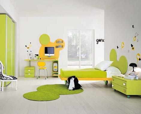 habitacion mickey mouse verde