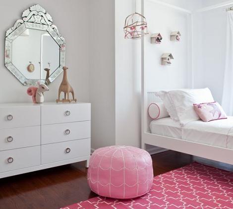 Habitación de niña en rosa