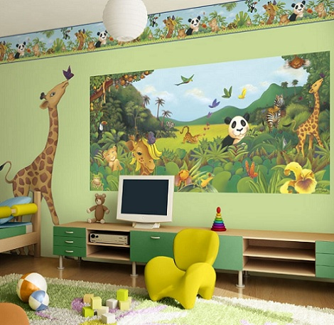 habitacion nino original animals