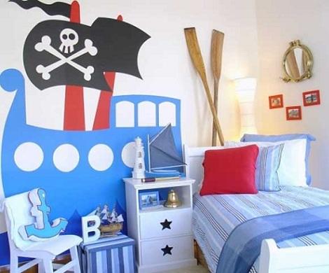 habitacion nino original pirata