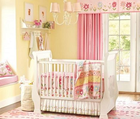 habitaciones bebe rosa amarillo