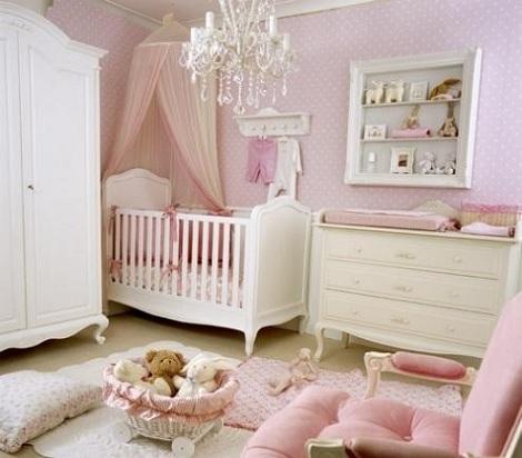 Habitaciones de beb en color rosa - Fotos de habitaciones para bebes ...