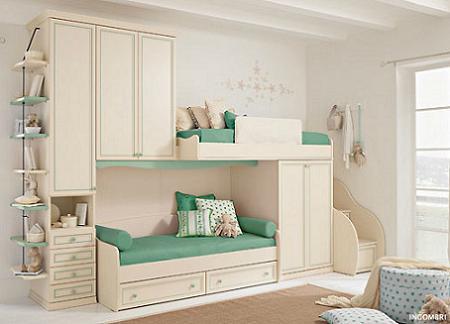Habitaciones infantiles cl sicas for Habitaciones para ninas con literas
