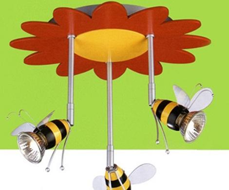 luces habitacion infantil techo abejas