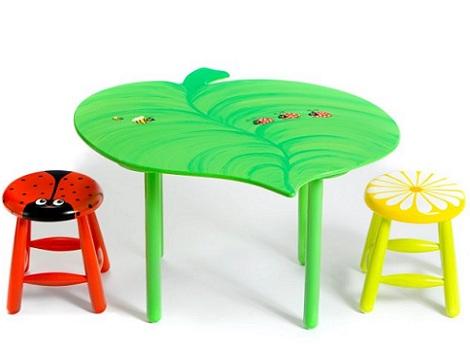 mesas infantiles originales animales