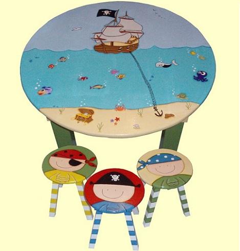 mesas infantiles originales piratas