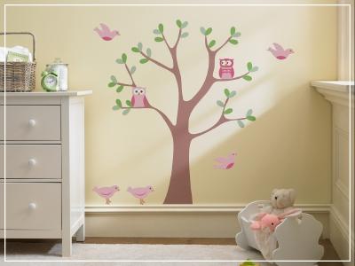 murales bebe arbol