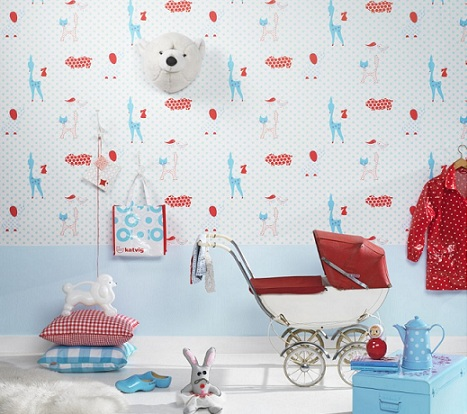 papel pintado habitacion bebe colores