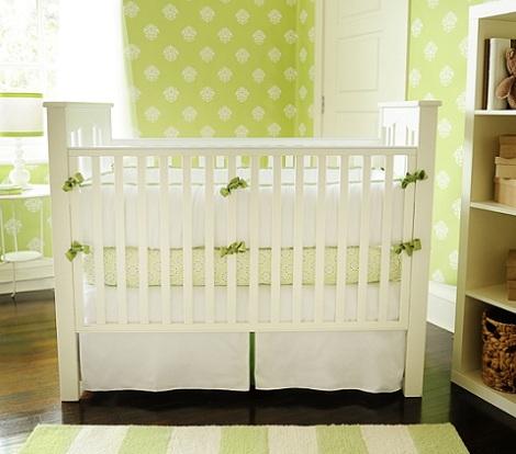 papel pintado habitacion bebe verde