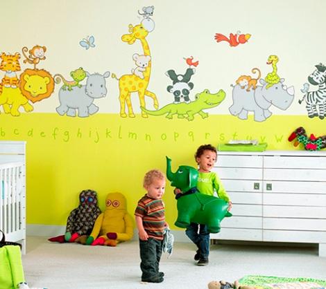Papel pintado animales infantil