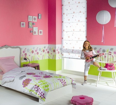 Papel pintado para habitaci n infantil - Cenefas de papel infantiles ...