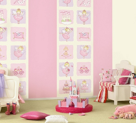 Papel pintado para habitaci n infantil - Papel pintado para habitacion nina ...