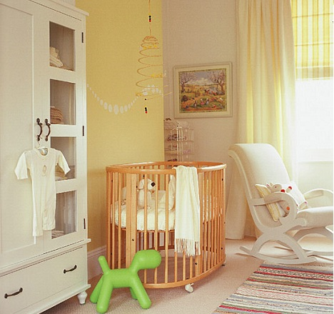 pintar habitacion bebe amarillo blanco