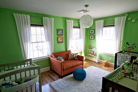 Verde para la habitación del bebé