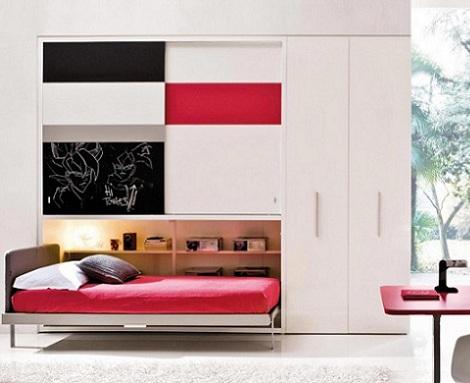 camas plegables ninos abatible armario