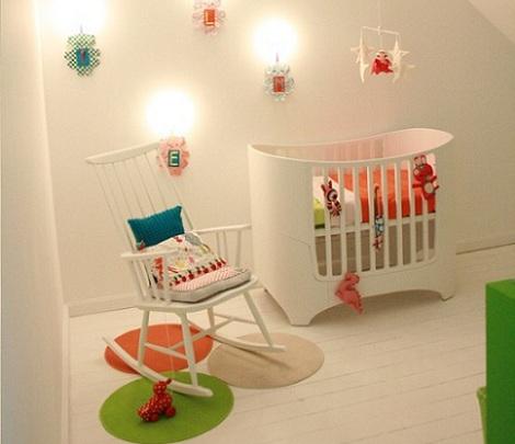 como decorar la habitacion del bebe luces