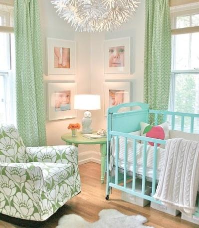como decorar la habitacion del bebe verde