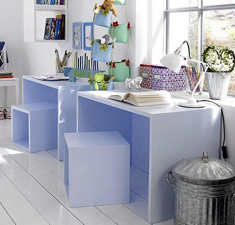 escritorios para ninos cubos