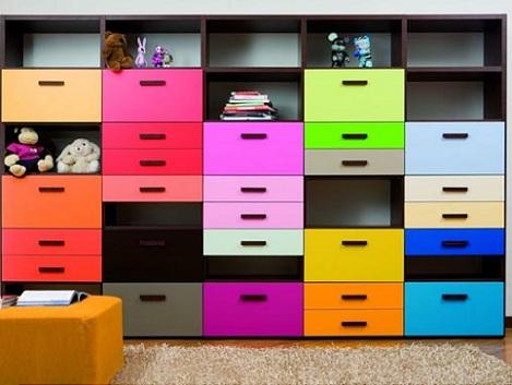 estanterias infantiles color