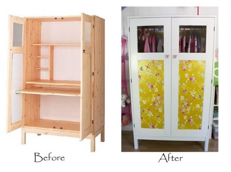 Forrar un armario infantil