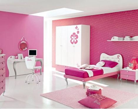 habitacion infantil barbie minimal