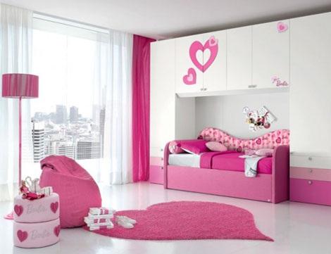 habitacion infantil barbie nido