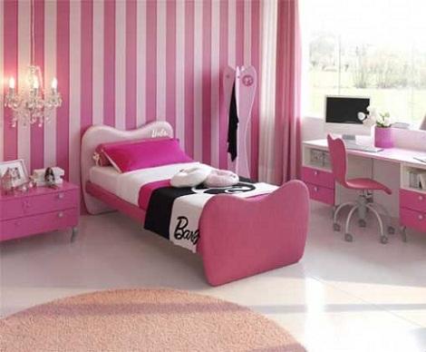 habitacin infantil barbie rayas