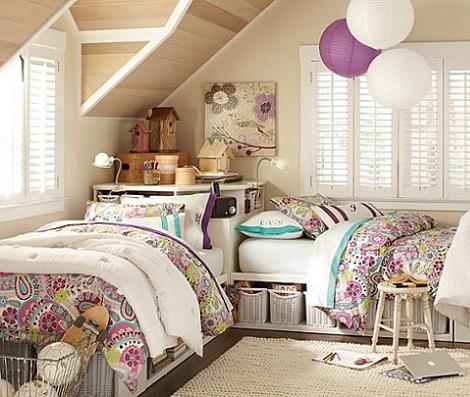 habitacion juvenil chica atico