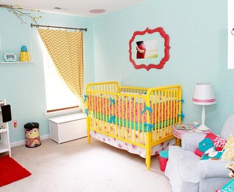 habitaciones bebe inspiracion moderna azul