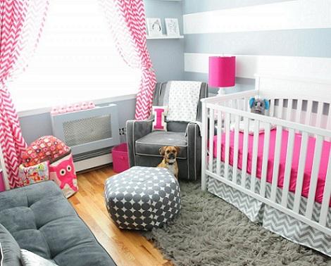 habitaciones bebe inspiracion moderna rosa