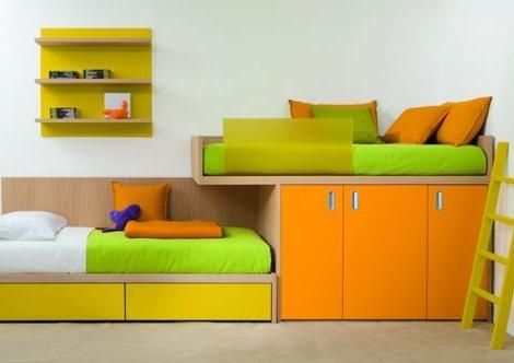 habitaciones infantiles a todo color amarillo